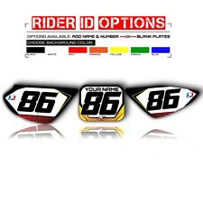 2004-2012 HONDA CRF 50 NUMBER PLATE GRAPHICS MOTOCROSS NUMBER BOARDS DECAL