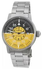 FORTIS AVIATIS FLIEGER COCKPIT YELLOW SWISS MADE AUTOMATIC WATCH $1795 NEW!