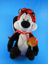 """Pepe Le Pew in  Devil Outfit Looney Tunes Plush 10"""" MWT Russell Stover w/o Candy"""