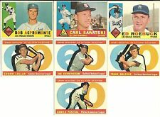 1960 Topps BB High #s All Stars 7 Cards EX to EX-MT Malzone Pascual Lollar