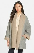 NEW EILEEN FISHER Double Face Alpaca Blend Poncho In Color Almond Size XL