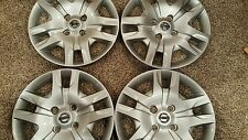 """Set Of 4 53084 16"""" NEW Hubcaps Wheelcovers 2010 2011 2012 Nissan Sentra Bolt On"""
