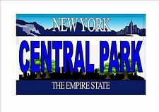 Novelty Number Plate, Central Park Fun American New York Licence Plate  NYC