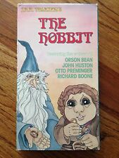 The Hobbit VHS, 1992 J.R.R. Tolkien Animated Bilbo Middle Earth Wizards Dragons