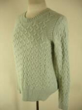 womens sz M J. Crew wool cashmere cable knit aran irish fisherman sweater green