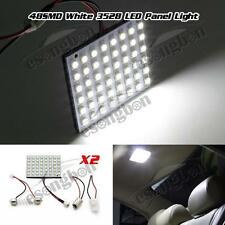 2) 48SMD LED 3528 SMD Car Interior Light Panel Bulb T10 Dome BA9S White