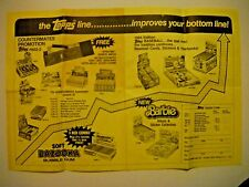 1984 SELL SHEET TOPPS BAZOOKA BUBBLE GUM GARBAGE CANDY, BARBIE, BASEBALL + MORE