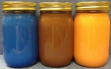 3 Pack - 16 oz Soy Candles (U pick fragrance & Color)  Hand Poured