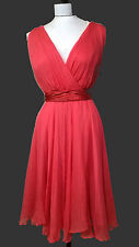 1950 inspired REBECCA TAYLOR red silk organza Marylin PROM FLARE COCKTAIL DRESS