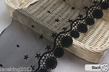 """1y Broderie Anglaise Embroidery mesh lace trim 6.3""""(16cm) YH1507 laceking2013"""