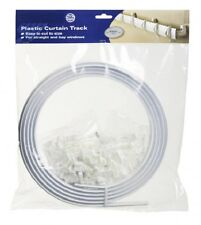 4 METER Flexible STRAIGHT Standard & Bay Window Curtain Track GLIDER Rail WHITE