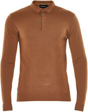 Matinique LAB Wool Long Sleeve Polo/Tobacco - XX Large (Slim Fit) TO CLEAR