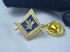 Masonic Lodge Officer Secretary Crossed Quills Jewel Lapel Pin Badge Plus Pouch