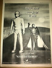 RINGO STARR (Beatles) Goodnight Vienna 1974 Poster size Press ADVERT 16x12 inch