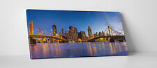 """Pittsburgh Night Skyline Gallery Wrapped Canvas Print. 45""""x16"""""""