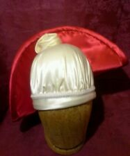 New Fabulous Kentucky Derby Dress Hat White Rose Red Satin