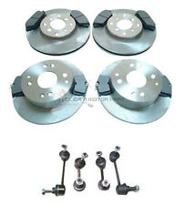 HONDA ACCORD 98-02 FRONT & REAR BRAKE DISCS AND PADS & 4 ANTI ROLL BAR LINKS