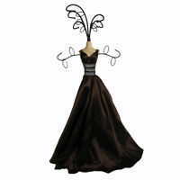 Mannequin Jewellery Display Stand Necklace Holder Lady Figure Dress Gift Brown