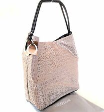 NEW RRP$445 Oroton Stencil Handbag Large Hobo Shoulder Bag Leather Brown Taupe
