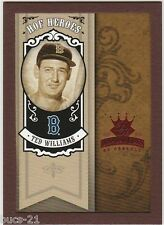 2005 DIAMOND KINGS TED WILLIAMS RED FRAME HOF HEROES BASEBALL CARD #HH-79 REDSOX