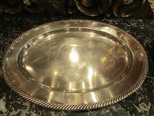 ancien grand plat ovale legumier metal argenté poinconné REED BARTON soldered