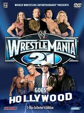 WWE - Wrestlemania 21: Wrestlemania Goes Hollywood (DVD, 2005, 3-Disc Set)
