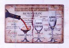 Metal Tin Signs All Kinds Of Wine Artistic Poster Pub Bar Tavern Decor Man Cave