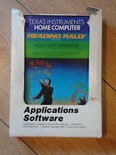 Texas Instruments Home Computer Reading Rally Software Cartridge