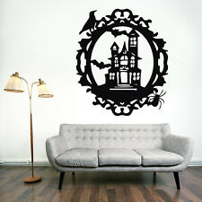 Happy Halloween House Bat Decal Wall Sticker Vinyl Home Decor Decoration Art