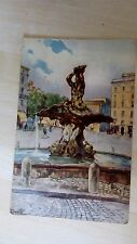 Old Postcard Roma Piazza Barberini Posted 1924