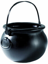 Witch Cauldron Black Halloween Trick Or Treat Candy Bag Horror Party Favors New