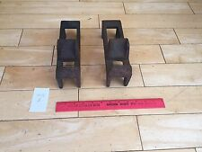 Vintage Heavy Pair Fireplace Firedogs Unknown Cast Iron Stove Stands No Front