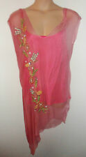RENE DERHY sheer embroidered top with vest UK XXL 22 US XL  20