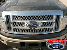 2009 thru 2014 F-150 OEM Genuine Ford Parts Chrome Mesh Grille w/Emblem NEW