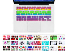 New Rainbow Silicone Keyboard Cover skin protecor For Macbook Air Retian13 15 17