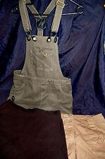 Bekleidungspaket 3teilg Short Jeansrock olive mit Trägern Hosenrock L/XL 40 N54