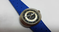 VINTAGE OMEGA DYNAMIC TWOTONE SILVER&BLACK DIAL DATE AUTOMATIC LADIES WATCH