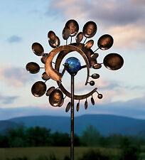 Garden Wind Spinner Yard Decor Outdoor Kinetic Metal Art Windmill Sculpture NEW*