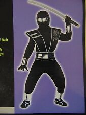 Black Mirror Ninja Boy's Halloween Costume Totally Ghoul Medium 8-10 #1323