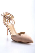 Charlotte Olympia Pink Aranea Crystals Suede Pumps Size 37 7 New In Box