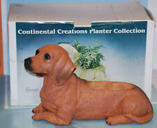 Dachshund Poly-stone Patio Planter by Continental Creations