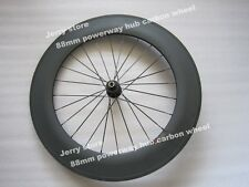 88mm only rear wheel 700C full carbon fiber clincher wheel titanium material