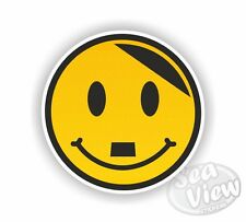 Happy Hitler Smiley Face Car Stickers Decal Funny Sticker Jdm Euro Dub VW Van