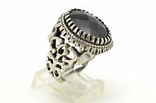 13 GRAM OAL BLACK TURKISH ONYX 925 STERLING SILVER MEN WOMEN RING SIZE US 9.25
