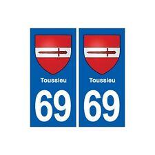 69 Toussieu blason autocollant plaque stickers ville droits