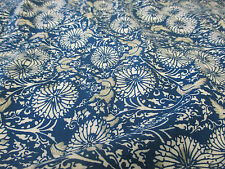"Blue/Green ""Spirals"" Floral 100% Viscose Summer Printed Dress Fabric."