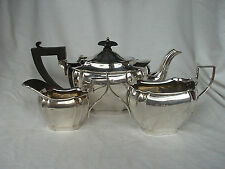 TEA SERVICE STERLING SILVER SHEFFIELD 1904