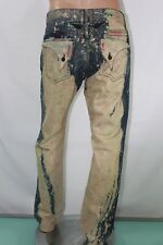 New Men's  Robin's Jean Denim Straight Distress Paint Splatter acid Wash SZ 42