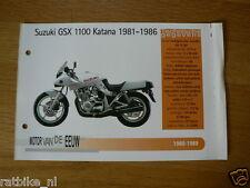 MVE72- SUZUKI GSX1100 KATANA 1981-86 MINI POSTER AND INFO MOTORCYCLE,MOTORRAD