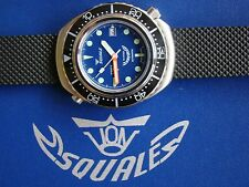 SQUALE DIVERS WATCH 20MM BLK RUBBER REPLACEMENT BAND STRAP DEPLOYMENT WATCH BAND